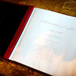 Custom Wedding Guest Book Table of Contents