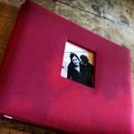 Red Wedding Guest Book Photo Scrap Book