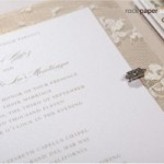 Invitation with Lace Trim