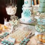 AQUAMARINE wedding cake and dessert display
