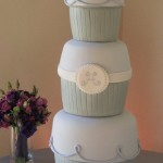 3-tier cupcake wedding cake by Shannie Cakes J Squared Events