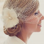 Birdcage Wedding Veil with Feathers Pearls