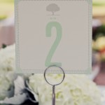 Custom Blue Green White Table Numbers