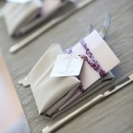 Custom purple bowling scorecard dinner menus by Rock Paper Scissors Design Sheila Garvey Photography