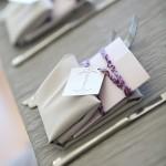 Custom purple bowling scorecard dinner menus by Rock Paper Scissors Design Sheila Garvey Photography