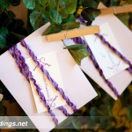 Custom vineyard replica purple escort card display by Rock Paper Scissors Design J Squared Events