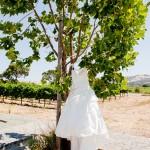 Las Positas Vineyards one shoulder wedding gown J Squared Events