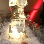Martini Luge Ice Sculpture