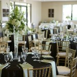 Mint and Chocolate wedding reception at Palm Pavilion Pleasanton CA
