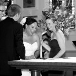 Most Holy Redeemer Catholic Church Wedding Ceremony Laughs Sheila Garvey Photography