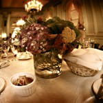 Purple and green centerpieces by Anne Mendenhall Flowers