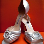 Silver Manolo Blahnik Cinderella Shoes
