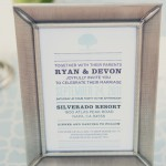 Simple Blue White Invitation Napa Valley Wedding