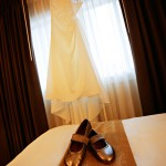 Simple Wedding Gown Ballerina Slippers