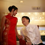 Traditional red qipao wedding dress