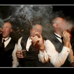 Wedding reception cigar bar J Squared Events