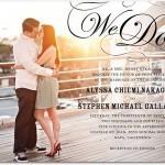 Wedding Invitation with Engagement Photo