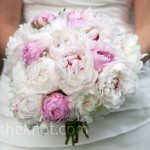 White and Pink Peony Bridal Bouquet