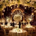 Winter White Tall Wedding Centerpieces