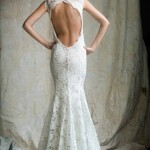 Backless Lace Mermaid Wedding Gown