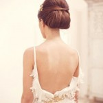 Backless Vintage Wedding Gown with Feathers