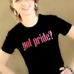 Got Pride Black Tee with Pink Glitter Logo