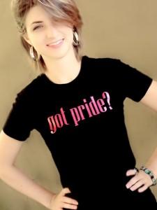 Got Pride Black Tee with Pink Glitter Logo