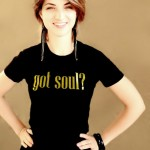 Got Soul Black Tee with Gold Glitter Logo