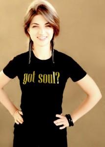 Got Soul Black Tee with Gold Glitter Logo