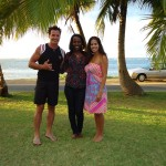 Antonio Sabato Jr and Cheryl Moana Marie the day before their Hawaiian wedding with celebrity event planner Jonette Jordan of J Squared Events