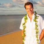 Antonio Sabato Jr on Anini Beach before his wedding