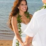 Cheryl Moana Marie Sabato during her Hawaii Wedding Ceremony
