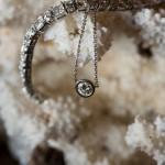 Diamond Tennis Bracelet and Diamond Necklace