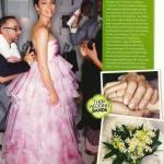 Jessica Biel Strapless Pink Wedding Gown