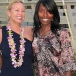 Jonette Jordan of J Squared Events and BFF of the bride Carina Whitham at Antonio Sabato Jr. Hawaii wedding