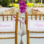 Mamma and Papa Chair Signage by Rachel Jane Couture
