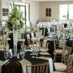 Mint and Chocolate wedding reception at Palm Pavilion Pleasanton CA