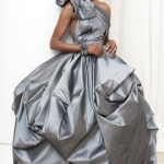 Real Houswives of Atlanta Cynthia Bailey Pewter Wedding Gown