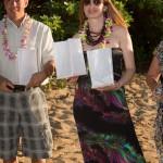 Simonne Sabato at Antonio Sabato Jr Beach Wedding Ceremony