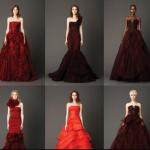 Vera Wang Spring 2013 Red Bridal Gowns