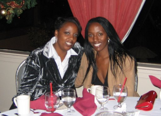 My sister, Felecia (l), and me 7 months before she passed away at her company Holiday Party