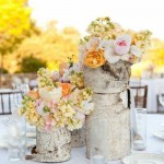 Peach and Pink Peony Centerpieces