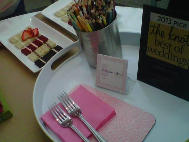 Shannie Cakes tasting display - YUM!