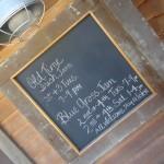 Chalkboard Seating Chart for Barn Wedding