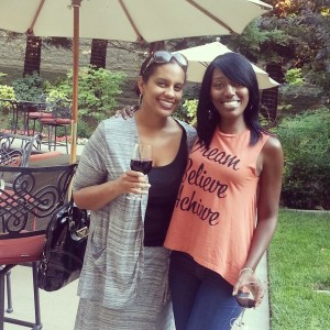 My childhood friend, Nikki and me.  She's seen how firsthand how Sickle Cell has affected me.
