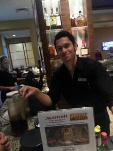 Our bartender, Michael