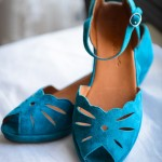 Gentle Soul Blue Suede Wedge Shoe