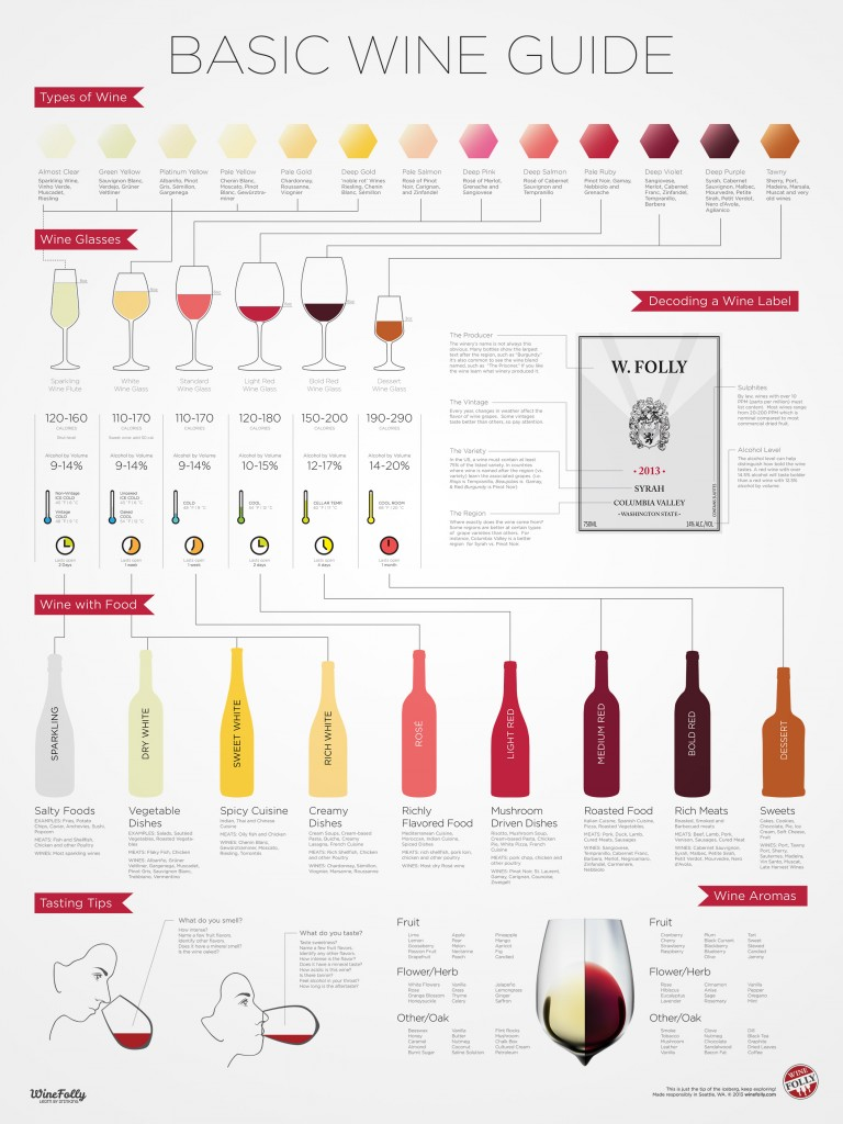 Basic Wine 101 Guide and Pairing Info by Wine Folly