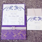 0002 purple and gold damask wedding invitation suite by nice owl design studio