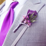 0010 purple calla lily boutonniere by Floral Theory